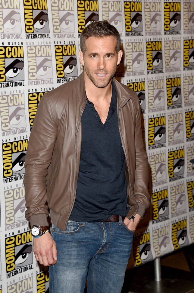 SAN DIEGO, CA - JULY 11: Actor Ryan Reynolds attends the 20th Century Fox press room during Comic-Con International 2015 at the Hilton Bayfront on July 11, 2015 in San Diego, California. (Photo by Jason Merritt/Getty Images)