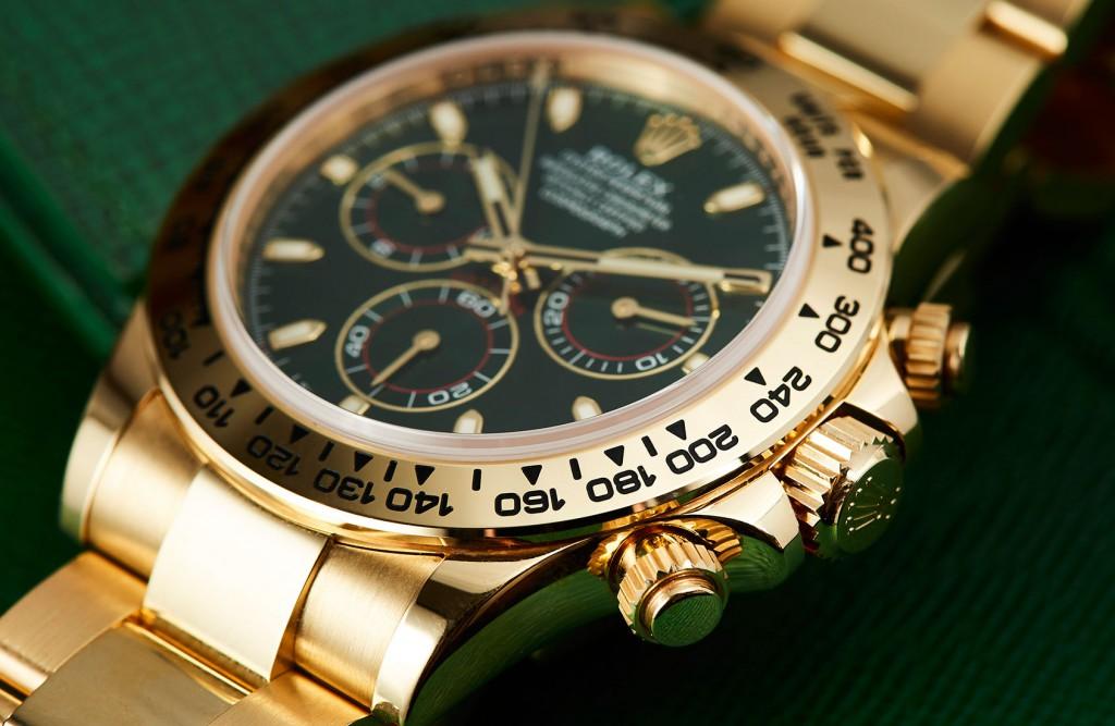 Replica Rolex Daytona yellow gold green dial 116508