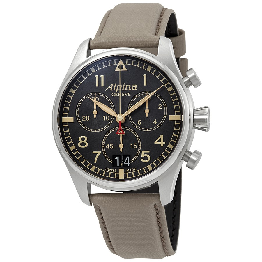 Alpina Startimer Pilot Chronograph Grey Dial Men's Watch AL-372BGR4S6